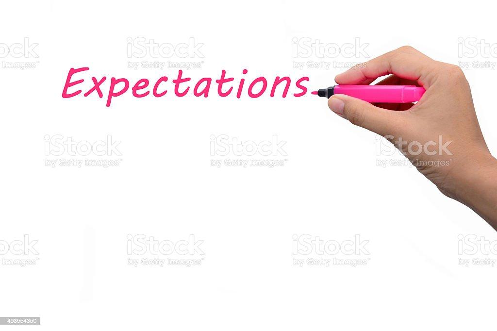 Expectations stock photo
