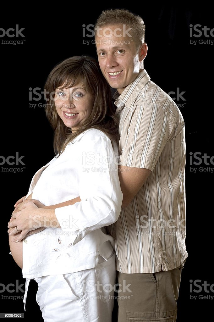 Expecting a new arrival royalty-free stock photo