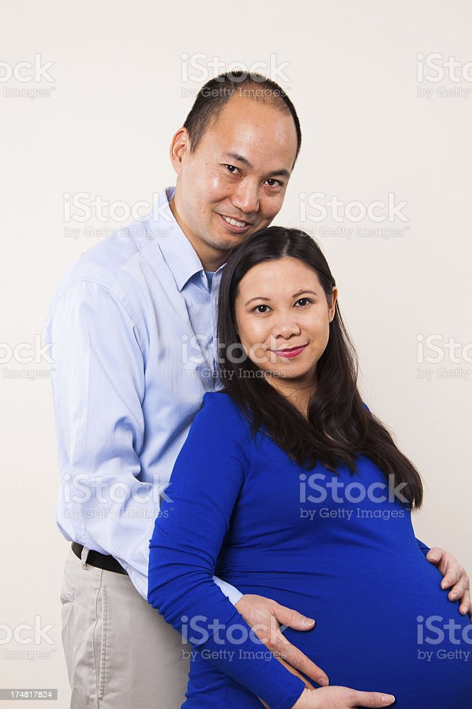 Expecting Couple royalty-free stock photo