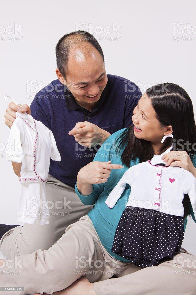 Expecting Couple royalty-free stock photo