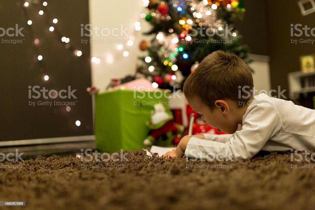 Expecting Santa stock photo