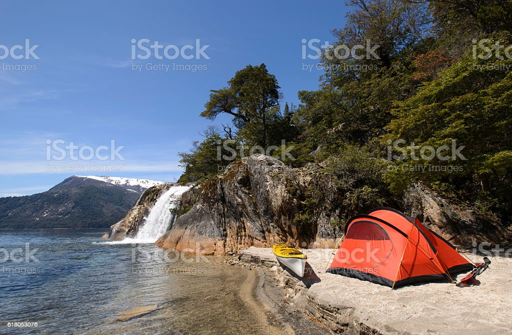 Expedition in Patagonia stock photo