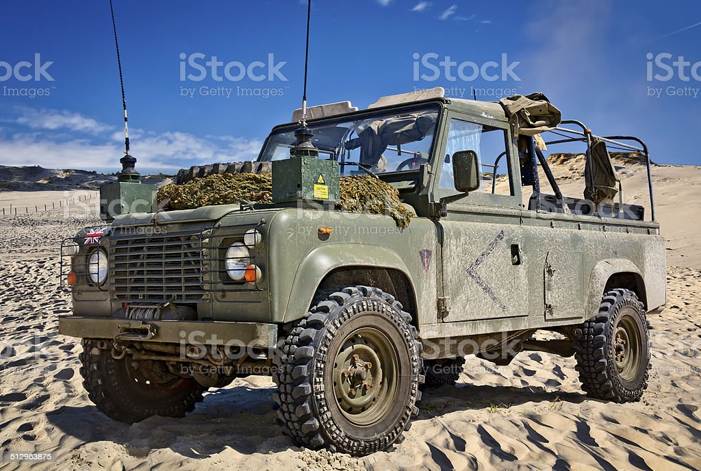 Expedition in the desert stock photo