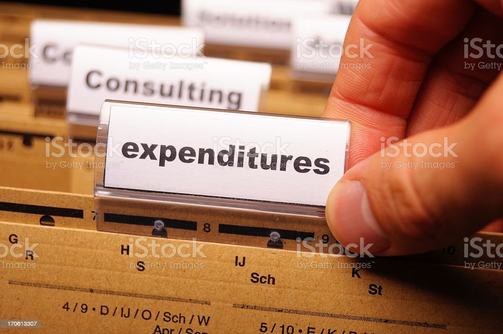 expenditures royalty-free stock photo