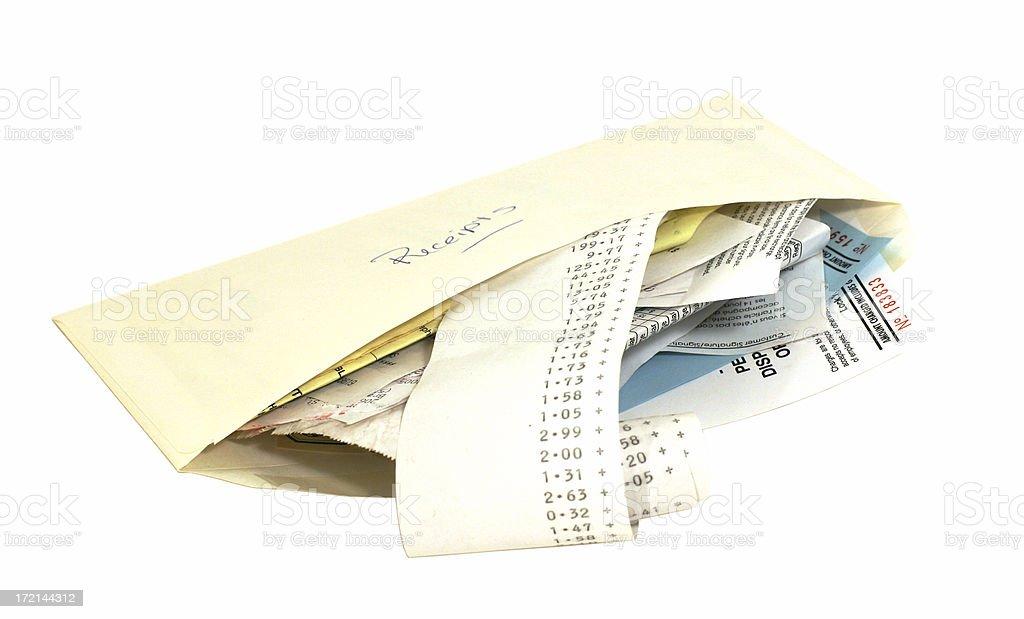 Expense Receipts stock photo