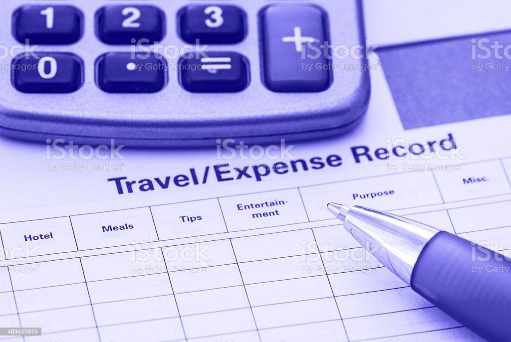 Expense record stock photo