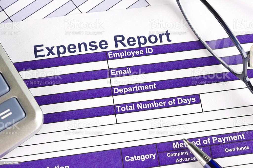 Expense report stock photo