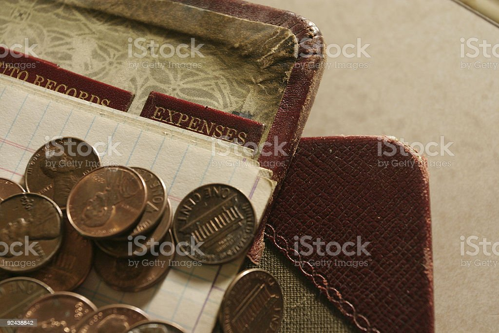 Expenses and Pennies royalty-free stock photo