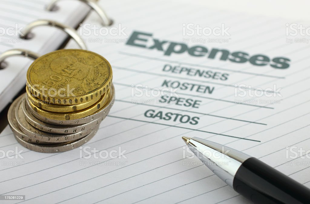 Expenses royalty-free stock photo