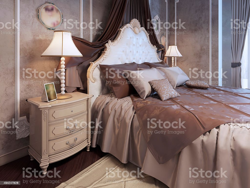 Expensive Bed Expensive Bed At Neoclassic Bedroom Stock Photo 494247828 Istock