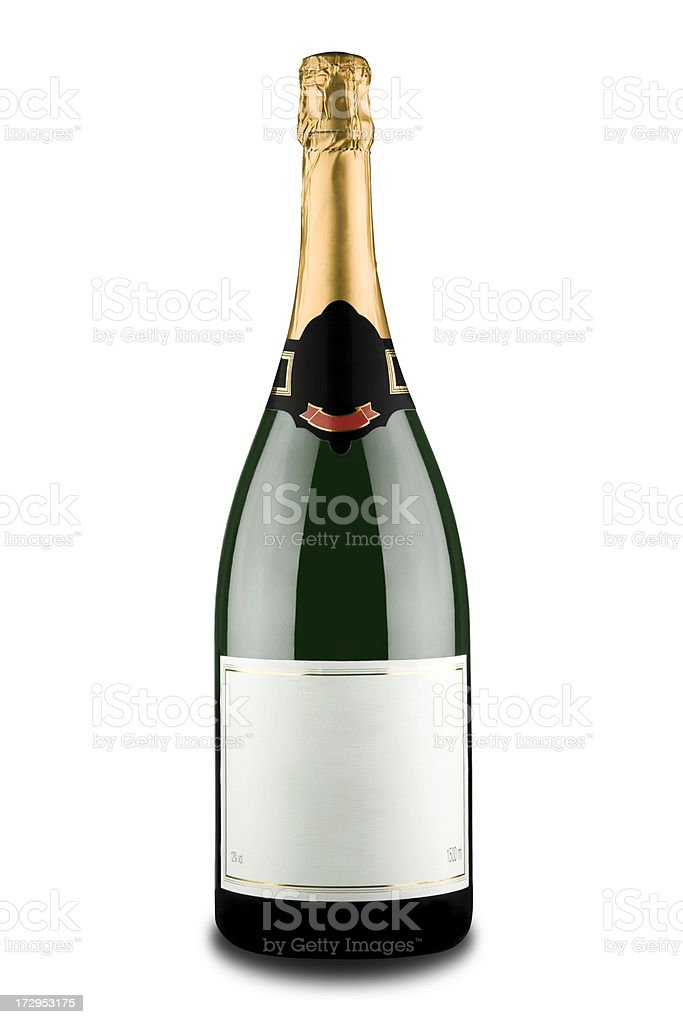 Expensive Champagne Bottle (Clipping path) royalty-free stock photo