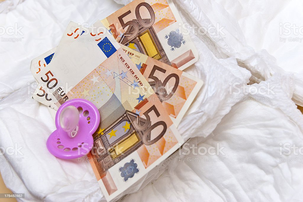 Expensive Child Care stock photo