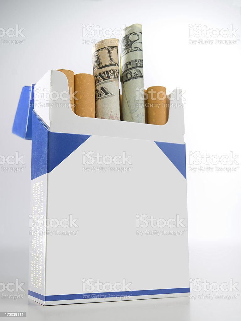 Expensive Cigs w/ Clipping Path on Label stock photo