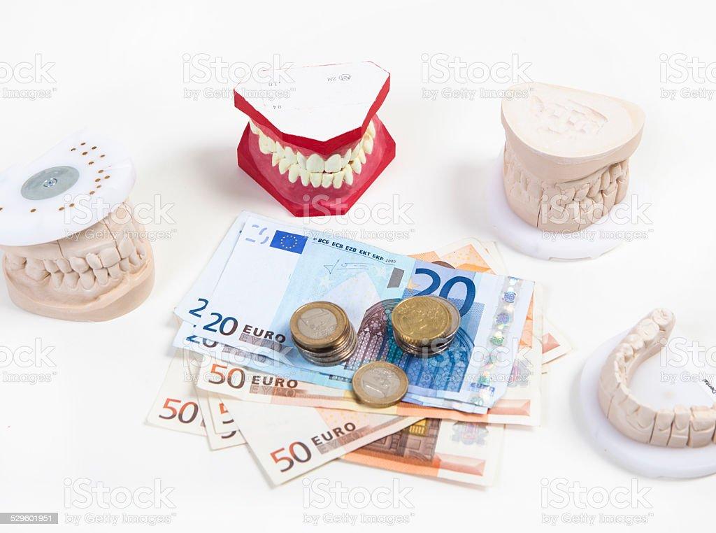 expensive dentures stock photo