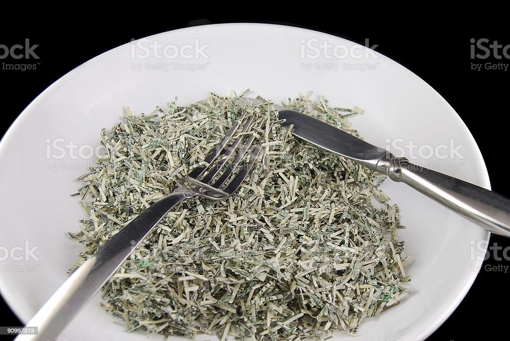Expensive Dinner Concept stock photo