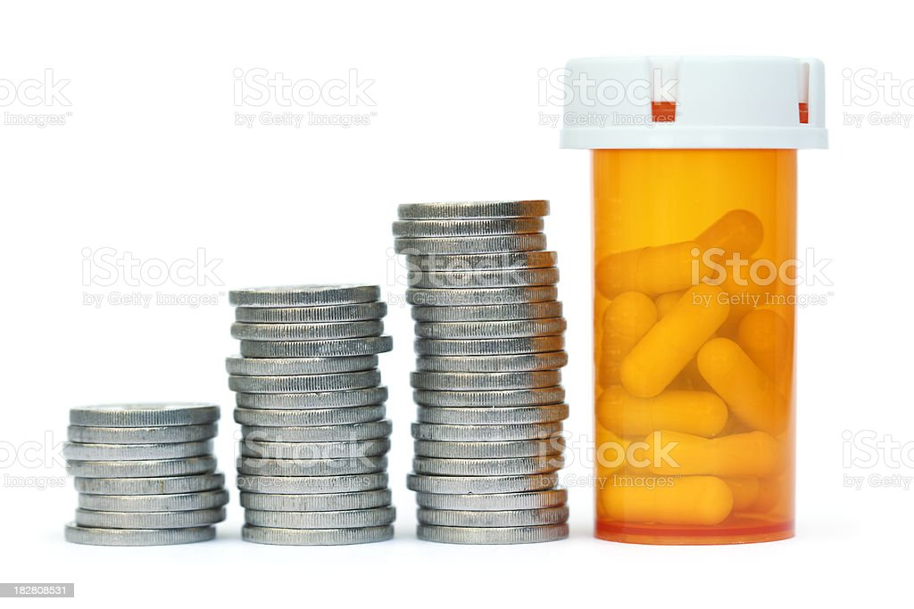 Expensive drugs stock photo