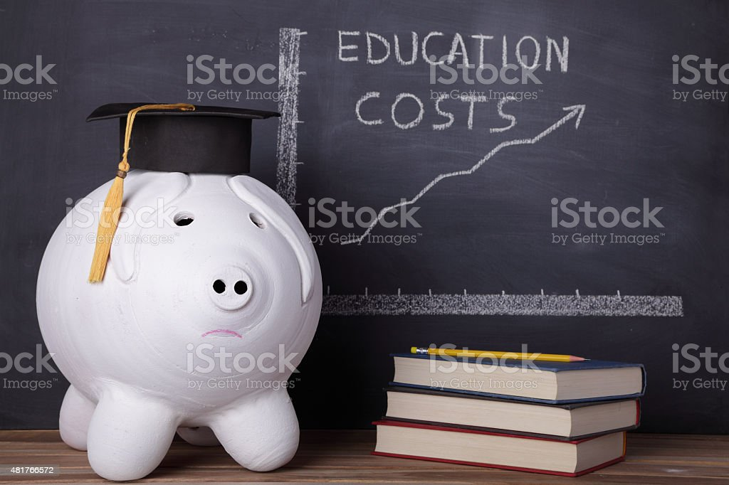 Expensive education stock photo