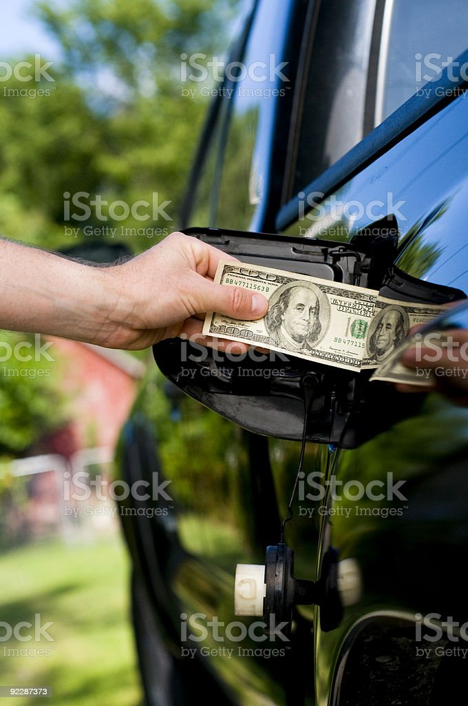 Expensive fuel stock photo