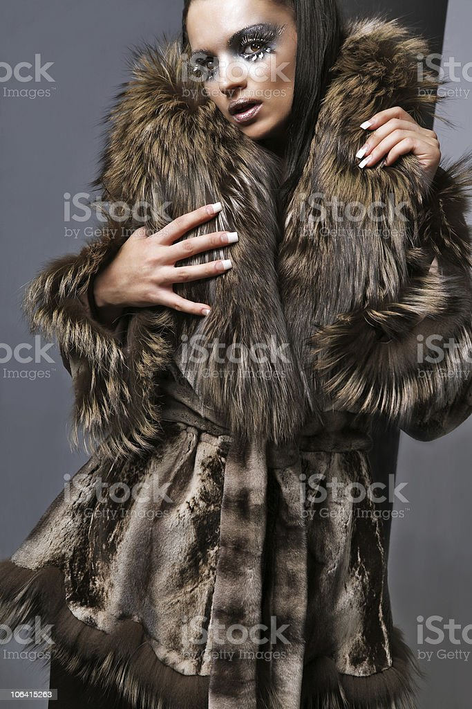 Expensive fur. royalty-free stock photo