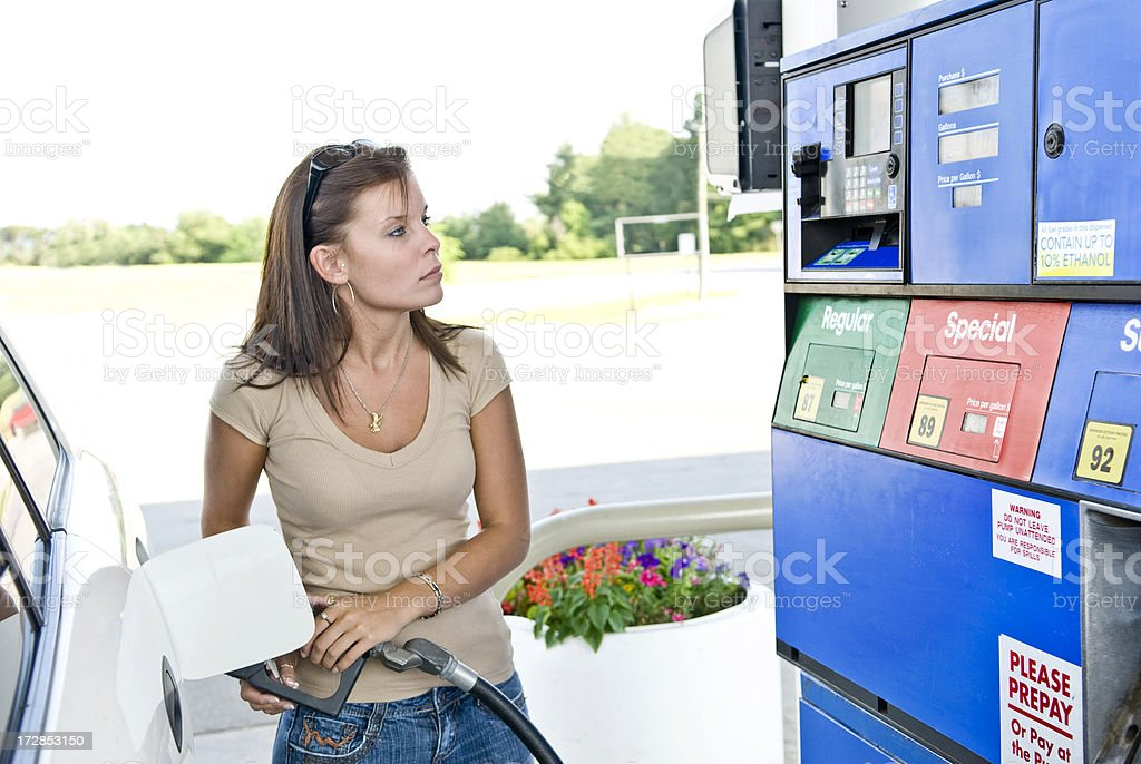 Expensive Gasoline Purchase royalty-free stock photo