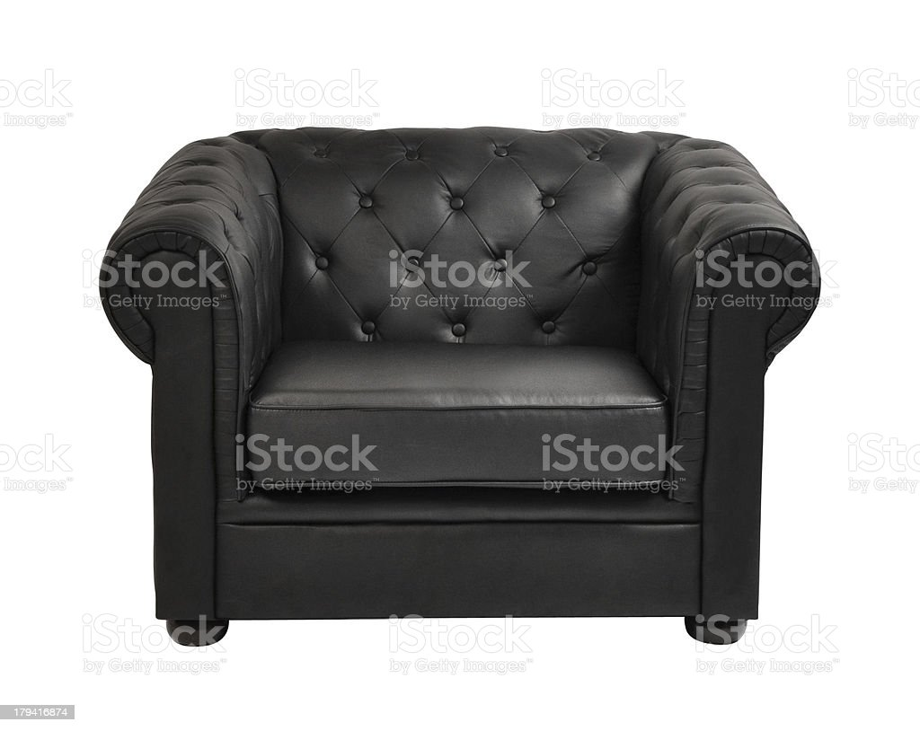 expensive leather arm chair stock photo