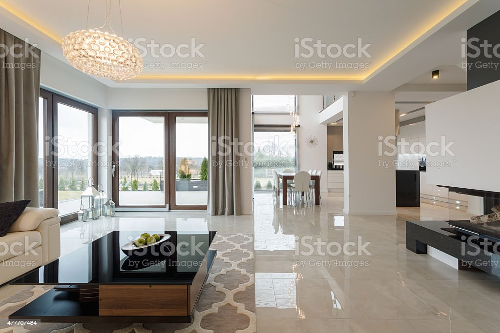 Expensive living room stock photo
