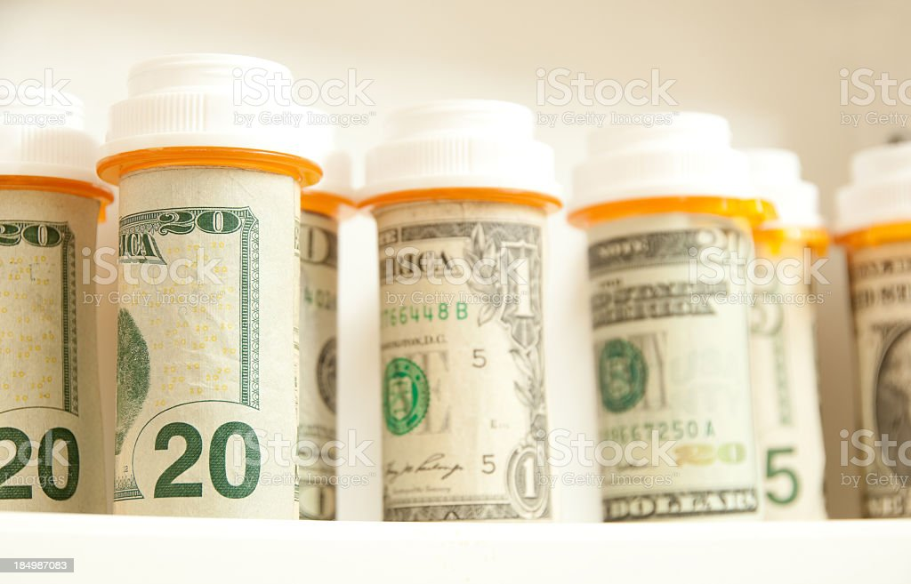 Expensive prescription costs royalty-free stock photo