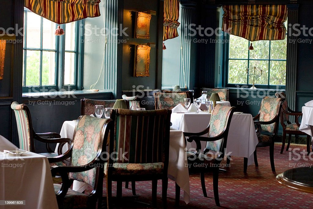 Expensive Restaurant Dining Room royalty-free stock photo