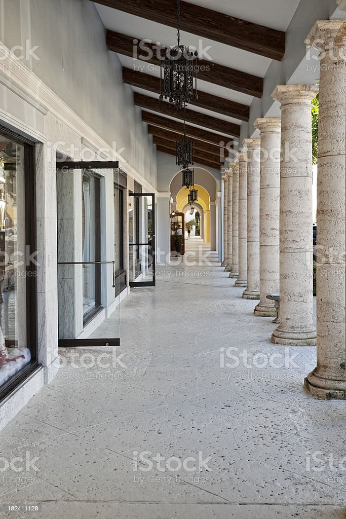 Expensive Shopping on Worth Avenue stock photo