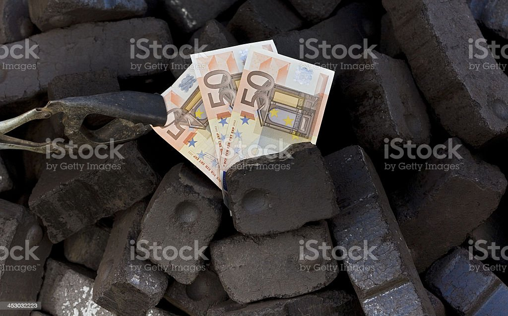 expensive to heat with coal, stock photo