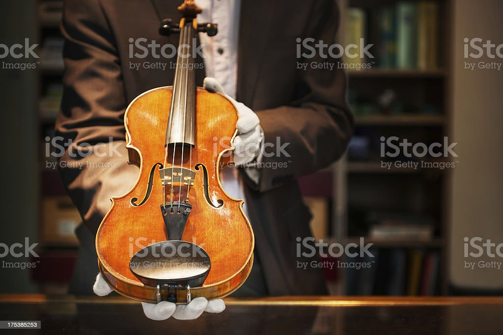 Expensive Violin stock photo