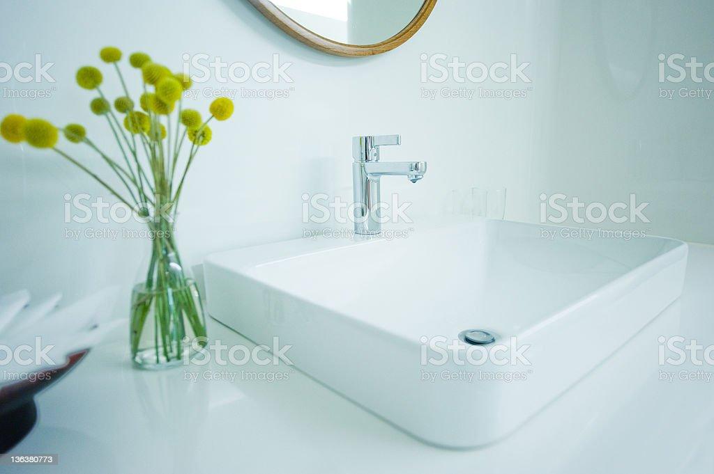 expensive white bathroom stock photo