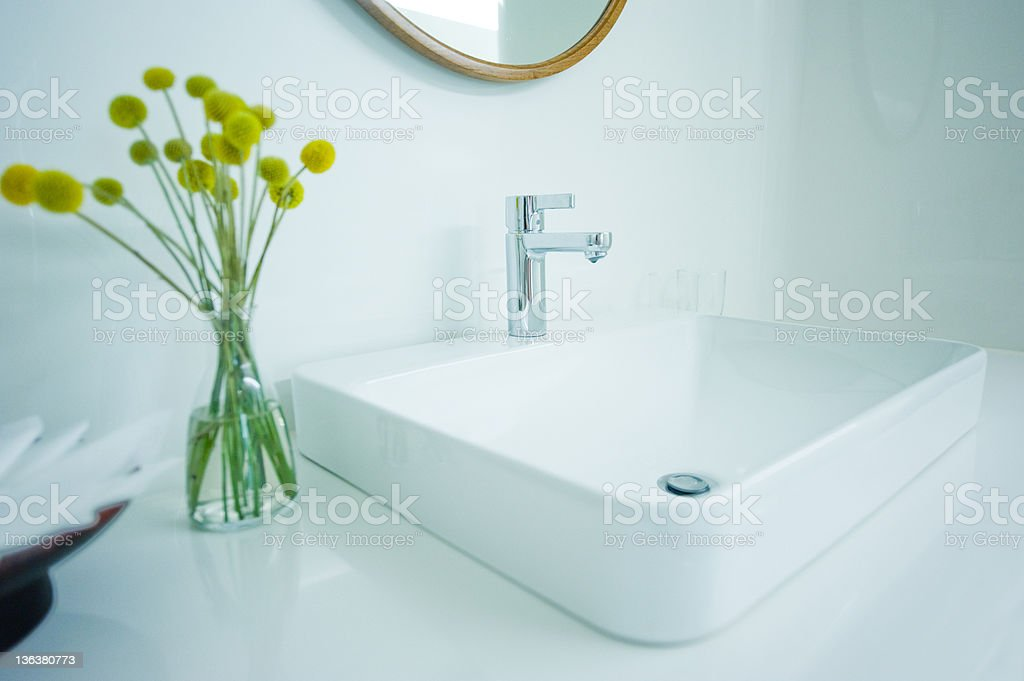 expensive white bathroom stock photo