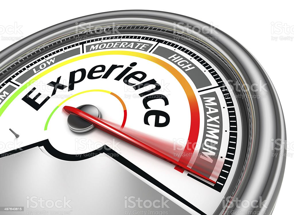 experience conceptual meter stock photo