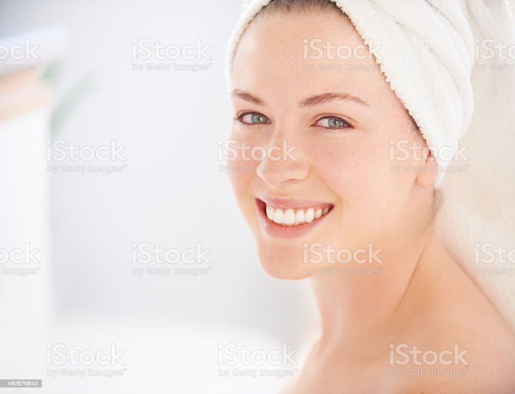 Experience flawless skin stock photo