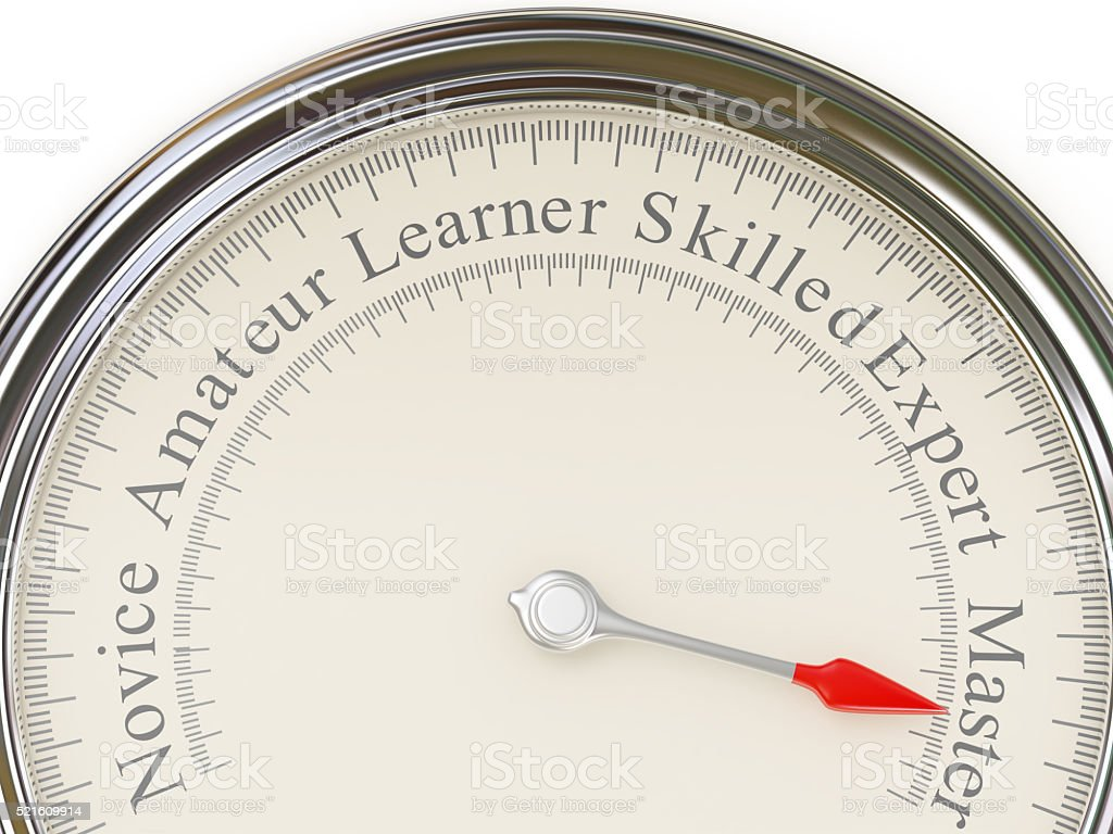 Experience levels meter stock photo