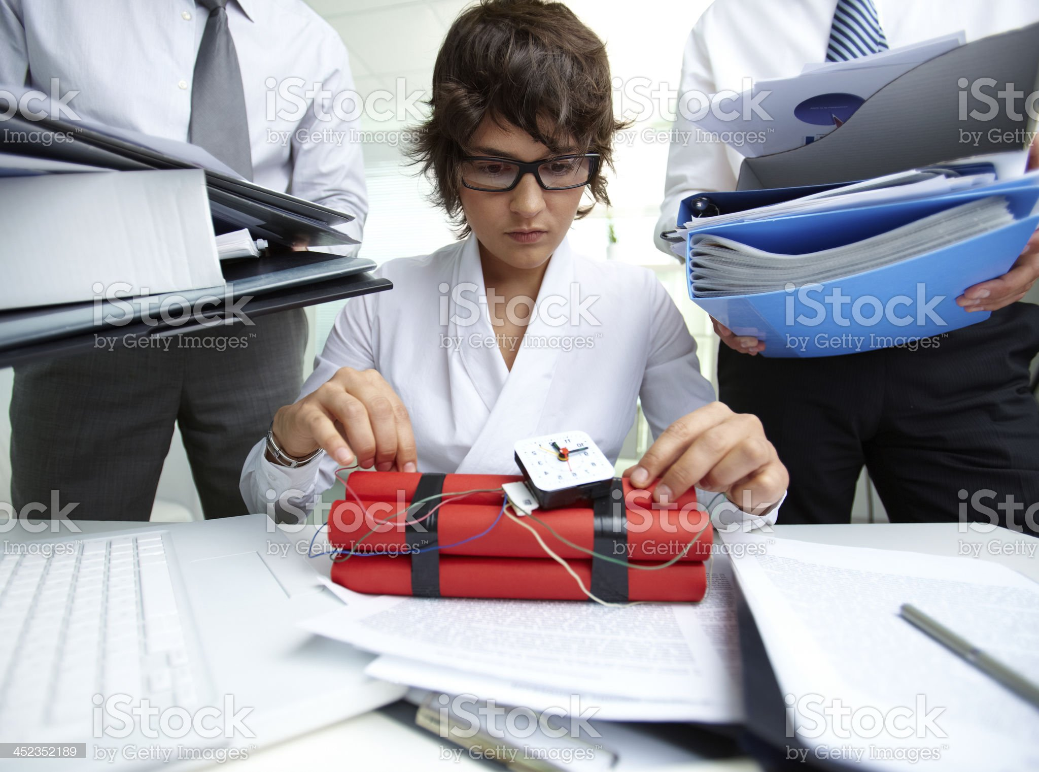 Experienced accountant royalty-free stock photo