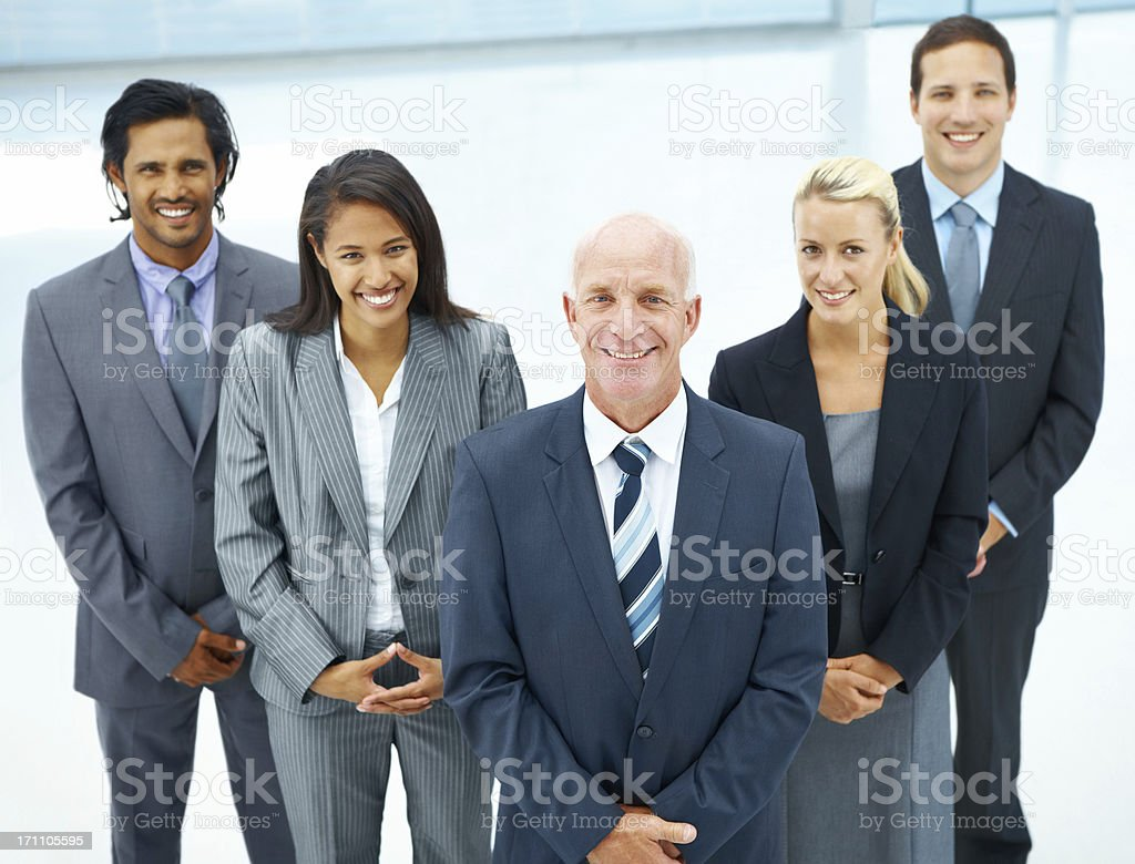 Experienced and dynamic business team royalty-free stock photo