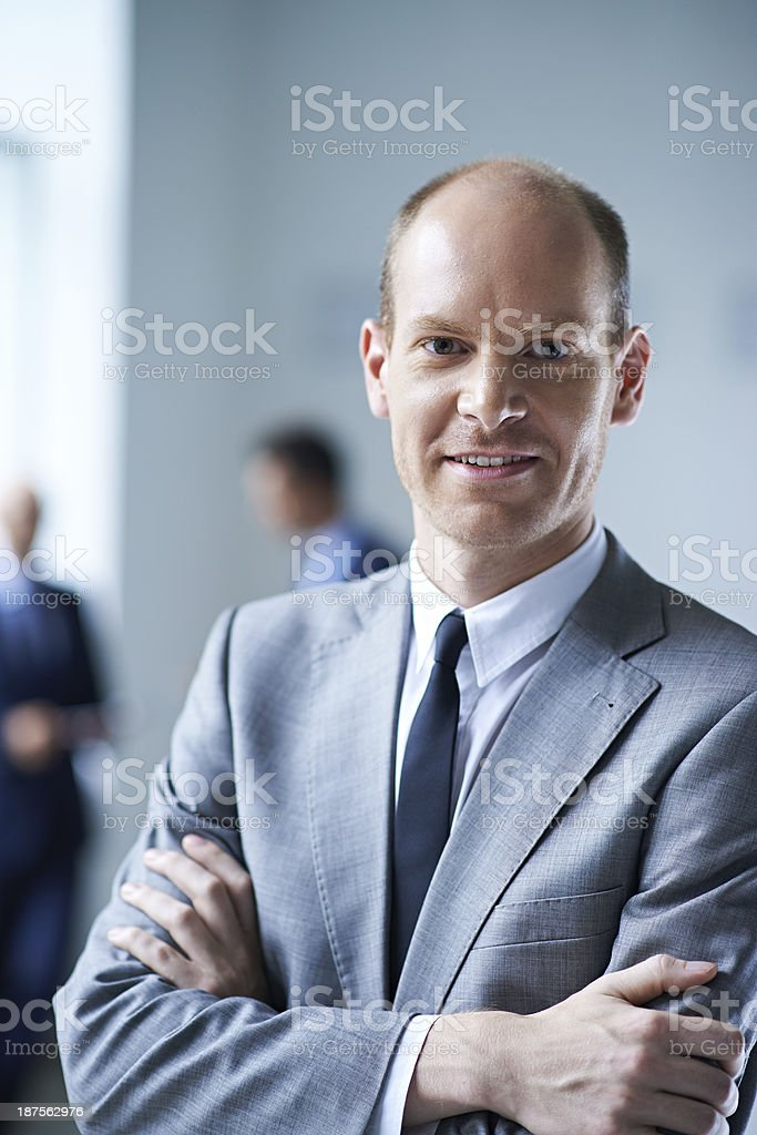 Experienced businessman royalty-free stock photo