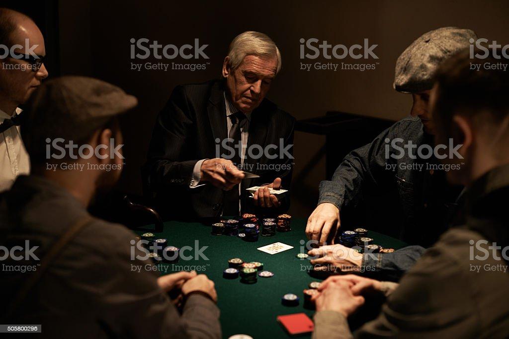 Experienced dealer stock photo