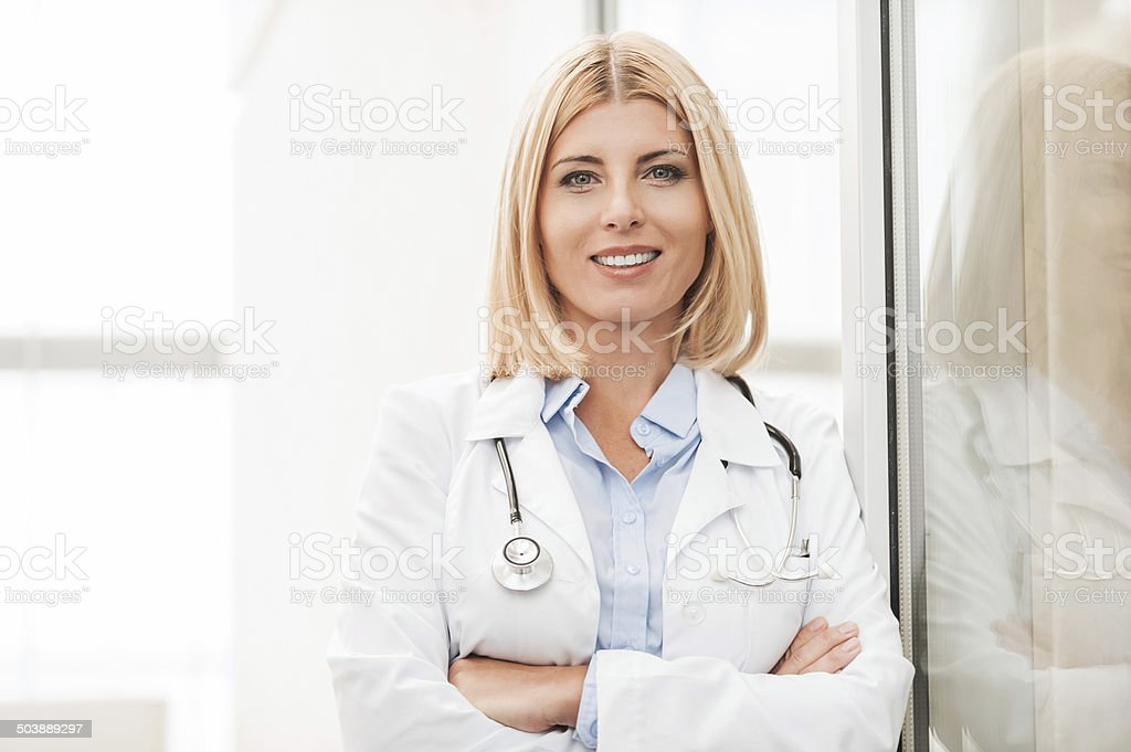 Experienced female doctor stock photo