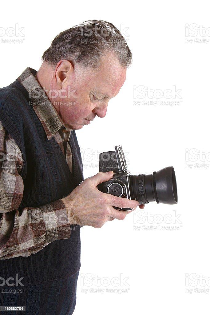 Experienced photographer stock photo