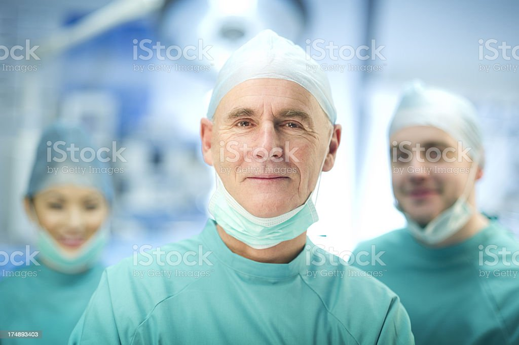 experienced surgeon and team royalty-free stock photo