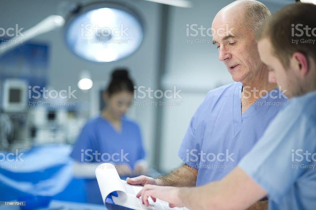 experienced surgeon royalty-free stock photo