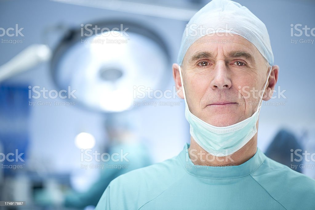 experienced surgeon royalty-free stock photo