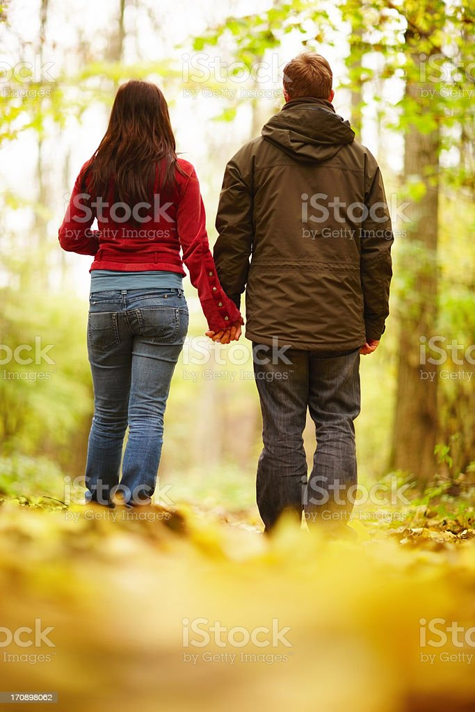Experiencing the beauty of nature together  stock photo