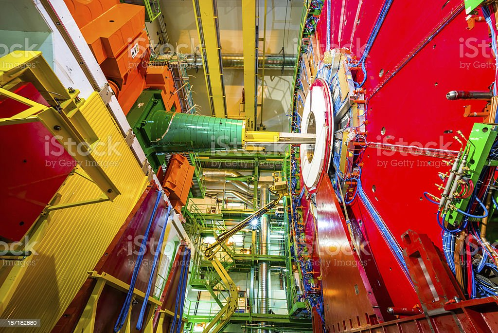 CMS Experiment Detector stock photo