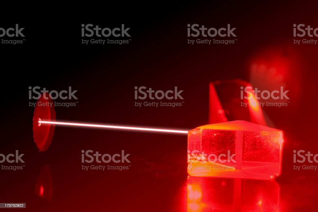 Experiment with a laser royalty-free stock photo