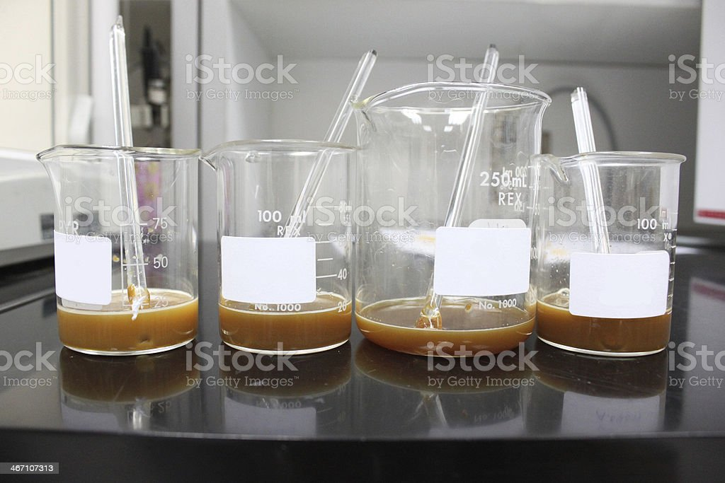 Experimental bottles royalty-free stock photo