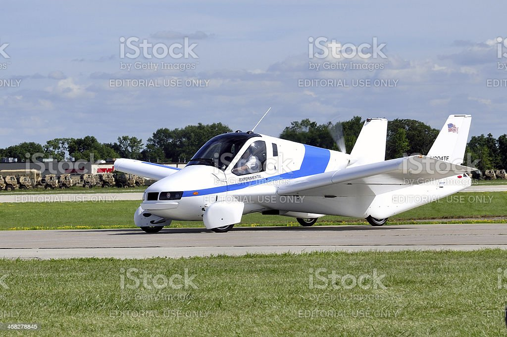 Experimental Flying Car stock photo